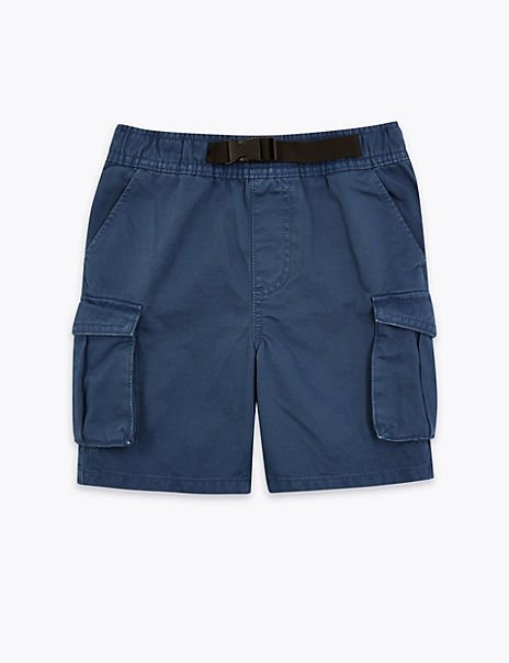 Pure Cotton Utility Buckle Shorts (6-16 Years)