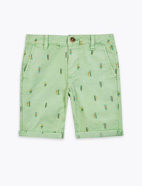 Cotton Embroidered Chino Shorts (6-16 Years)