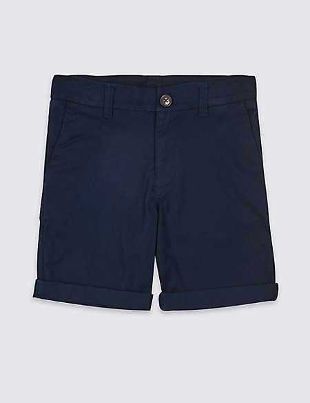 Cotton Chino Shorts with Stretch (3-16 Years)