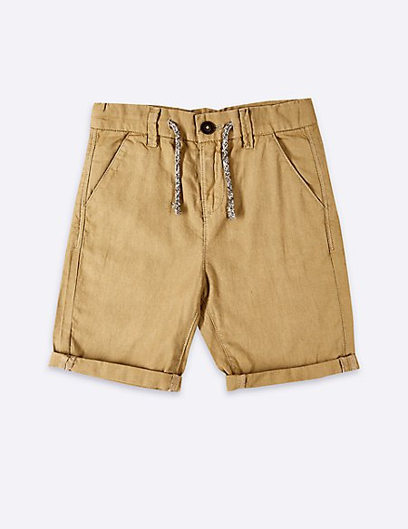 Linen Rich Shorts (3-16 Years)