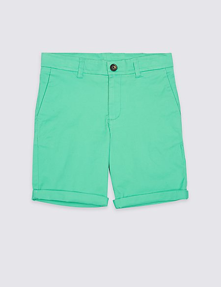 PLUS Cotton Shorts with Stretch (3-16 Years)