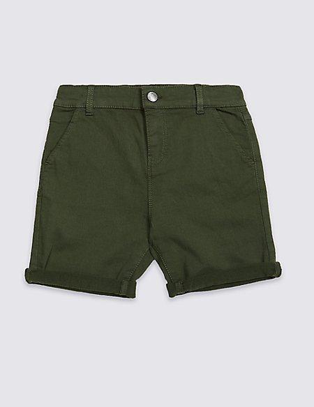 Cotton Rich Khaki Shorts (3-16 Years)