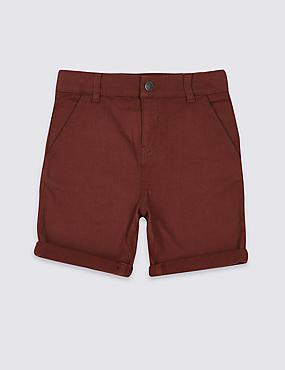 Jersey Denim Shorts (3-16 Years)