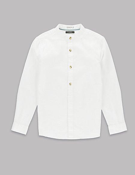 Pure Cotton Waffle Shirt (5-14 Years)