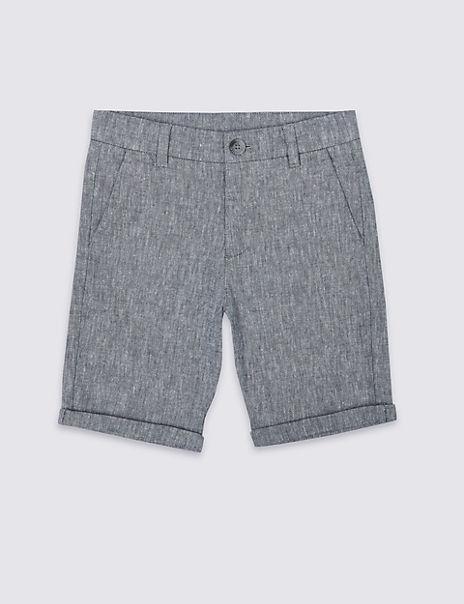 Chambray Shorts (3-16 Years)
