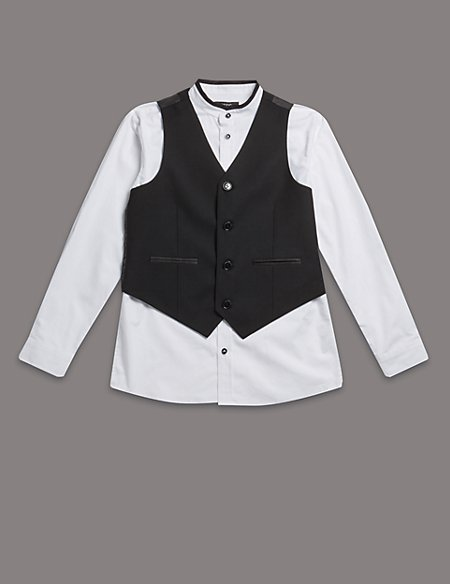 2 Piece Shirt & Waistcoat Outfit (5-14 Years)
