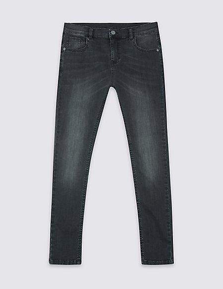 Cotton Skinny Leg Jeans with Stretch (3-14 Years)