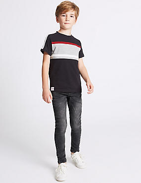 Cotton Rich Skinny Leg Jeans (3-14 Years)
