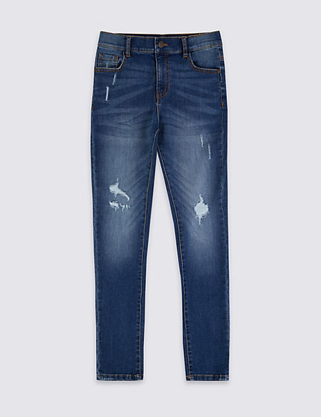 Skinny Fit Distressed Look Jeans (3-16 Years)