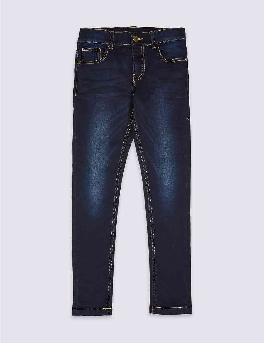 bc736207593 Cotton Rich Super Skinny Fit Jeans (3-16 Years)