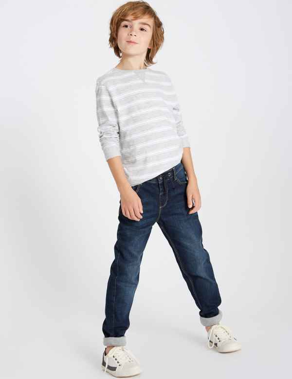 clp60170651: Regular Fit Jeans with Stretch (3-16 years)