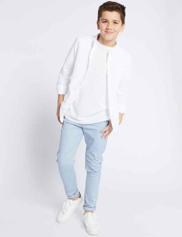 5bc33f29052 Cotton Chinos with Stretch (3-16 Years)