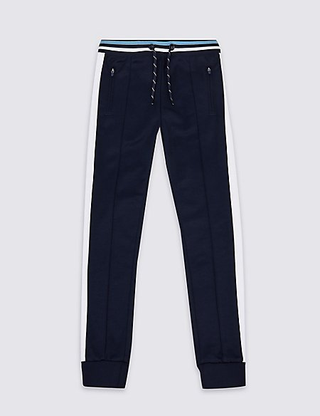 Cotton Rich Tricot Joggers (3-16 Years)