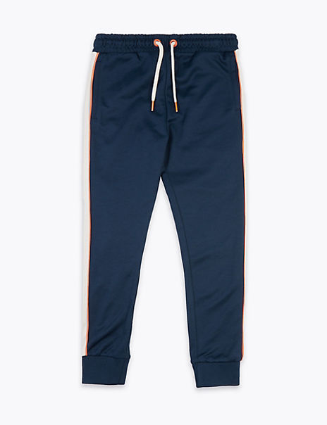 Cotton Rich Side Stripe Joggers (6-16 Years)