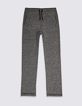 Cotton Blend Textured Joggers (3-16 Years)