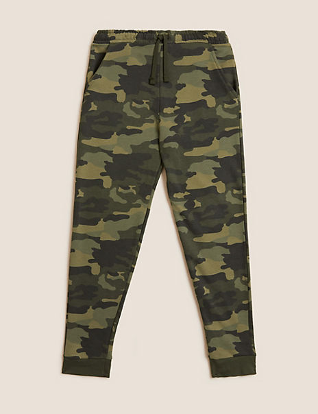 Cotton Rich Camo Joggers (6-16 Years)