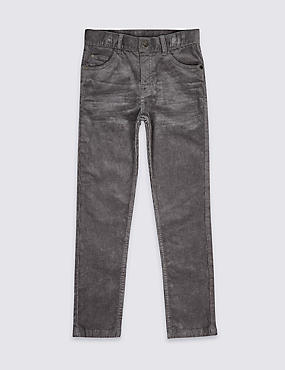 Cotton Cord Trousers with Stretch (3-16 Years)