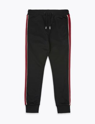Cotton Rich Side Striped Joggers (6-16 Yrs)