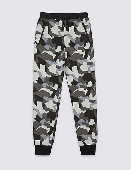 Cotton Rich Camouflage Joggers (3-16 Years)