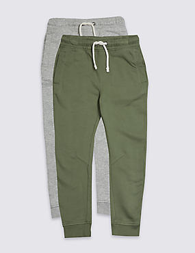 2 Pack Cotton Rich Joggers (3-16 Years)