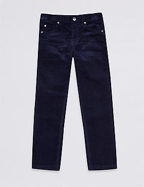 Cotton Cords Trousers with Stretch (3-16 Years)