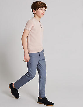 Pure Cotton Textured Chinos (3-16 Years)