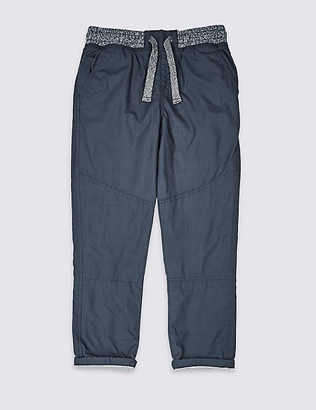 Pure Cotton Woven Trousers (3-16 Years)