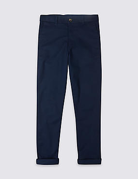 Additional Length Cotton Chinos with Stretch (3-16 Years)