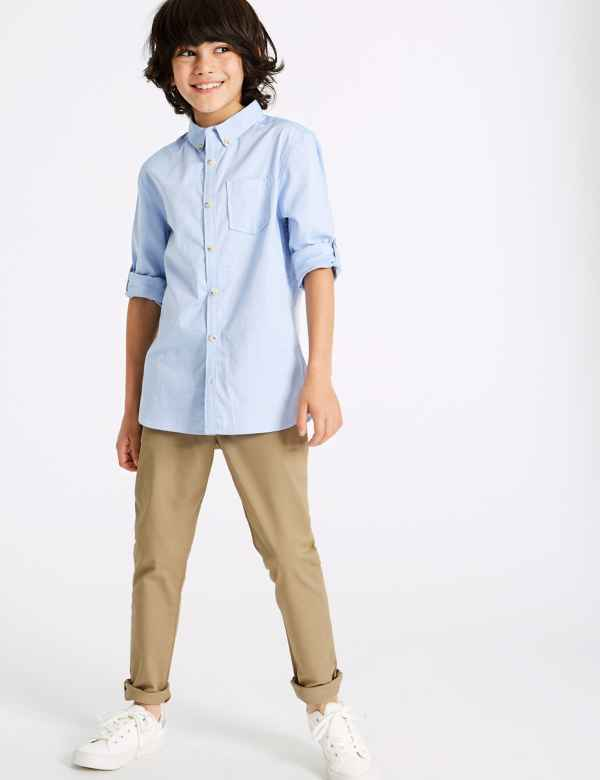 51e8da6e44808 PLUS Cotton Chinos with Stretch (3-16 Years)