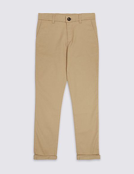 PLUS Cotton Chinos with Stretch (3-16 Years)