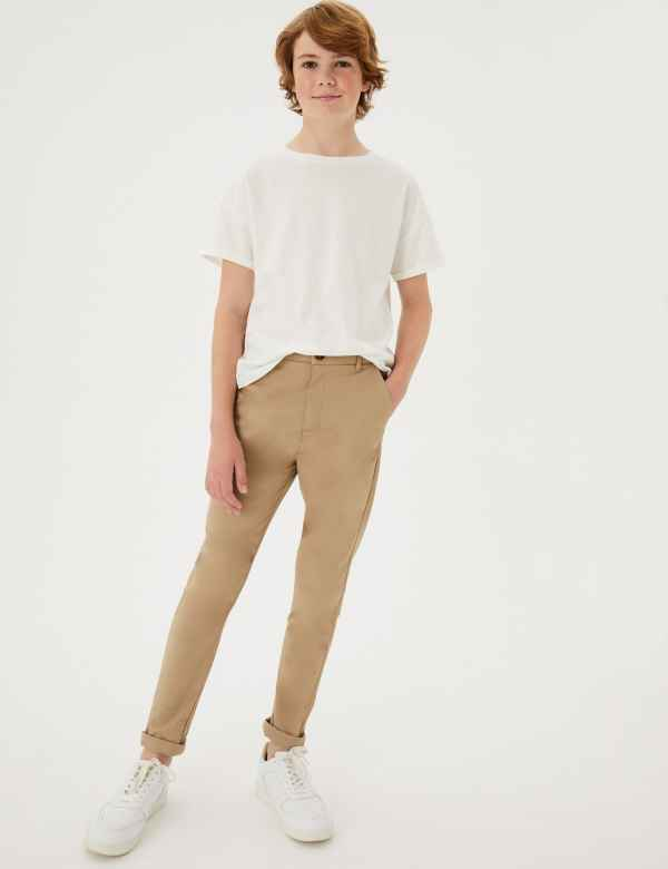 Cotton Chinos with Stretch (3-16 Years) e5284e72a8df