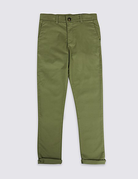 Marks and Spencer Additional Length Chinos (3-16 Years) khaki Amazing Price Cheap Online Outlet Locations For Sale HxYswn