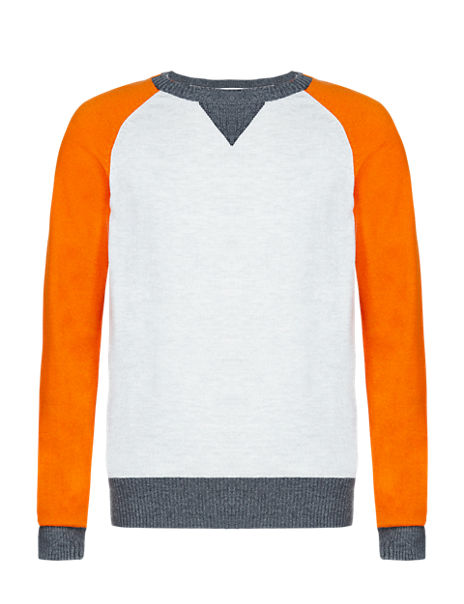Colour Block Jumper (5-14 Years)