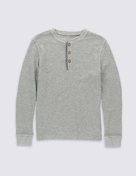 Cotton Rich Waffle T-Shirt (5-14 Years)