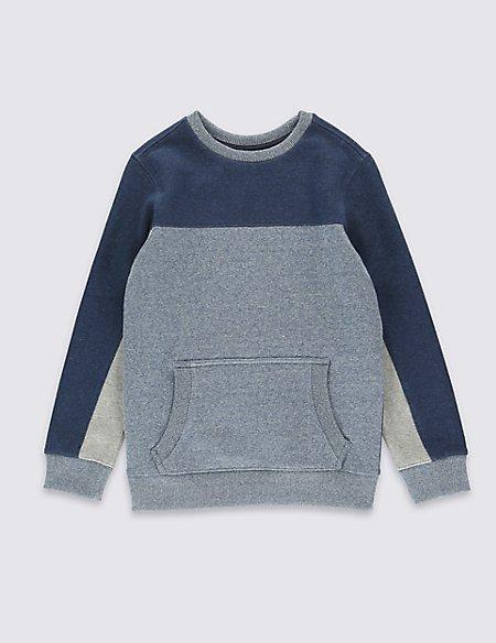 Cotton Rich Textured Sweatshirt (5-14 Years)