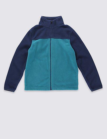 Zipped Through Fleece Top (5-14 Years)