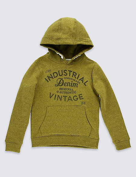 Cotton Blend Overhead Sweatshirt (5-14 Years)