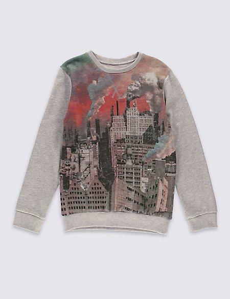 Cotton Rich Long Sleeve Sweatshirt (5-14 Years)