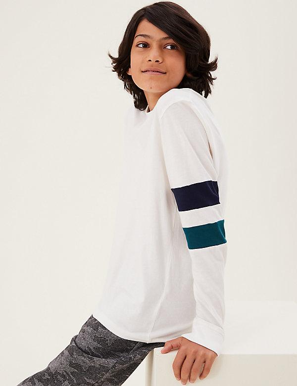Pure Cotton Armband Sweatshirt (6-16 Yrs)