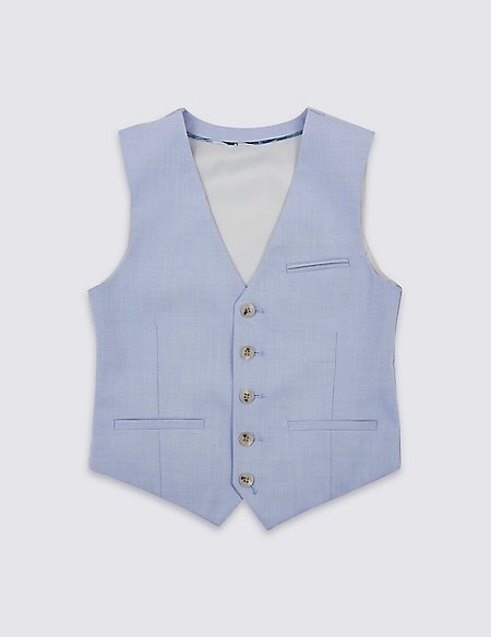 Blue Waistcoat (3-16 Years)