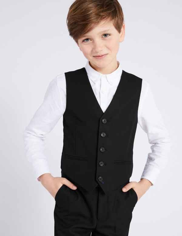4cc13610c1c84 Black Waistcoat (3-16 Years)