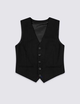 Black Waistcoat (3-16 Yrs)