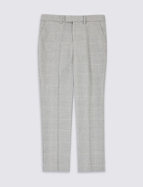 Checked Suit Trousers (3-16 Years)