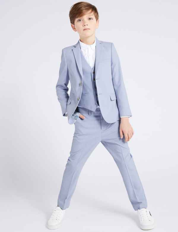 680147198a670 Blue Suit Trousers (3-16 Years)