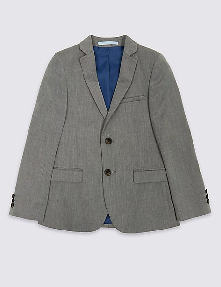2 Button Textured Jacket (3-16 Years)
