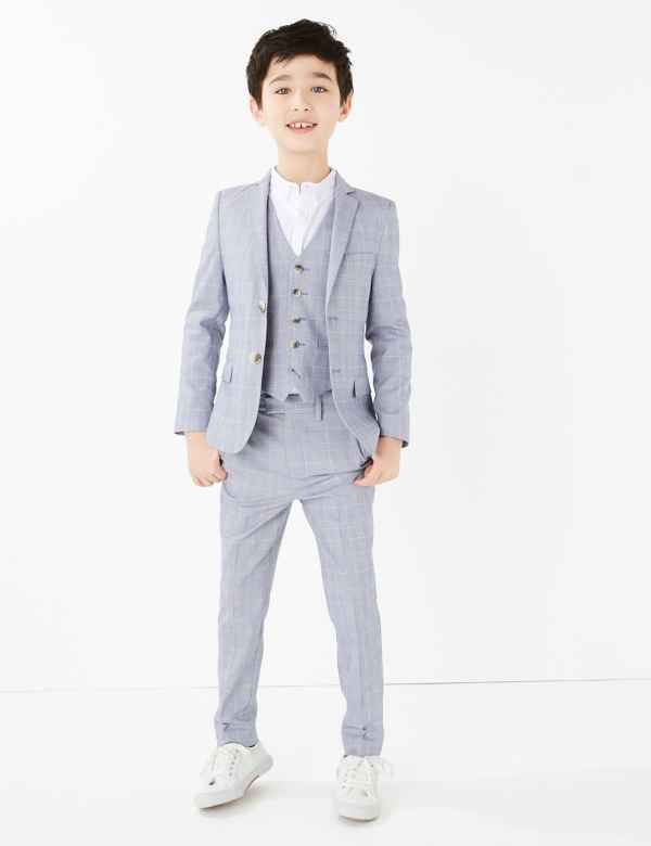Baby Boy Teen Toddler Wedding Formal Party Gift SILVER Vest Set Suit Outfit S-20