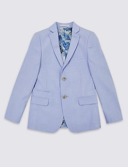 Textured Suit Jacket (3-16 Years)