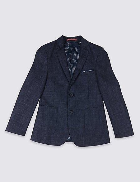 Textured Fashion Blazer (3-16 Years)