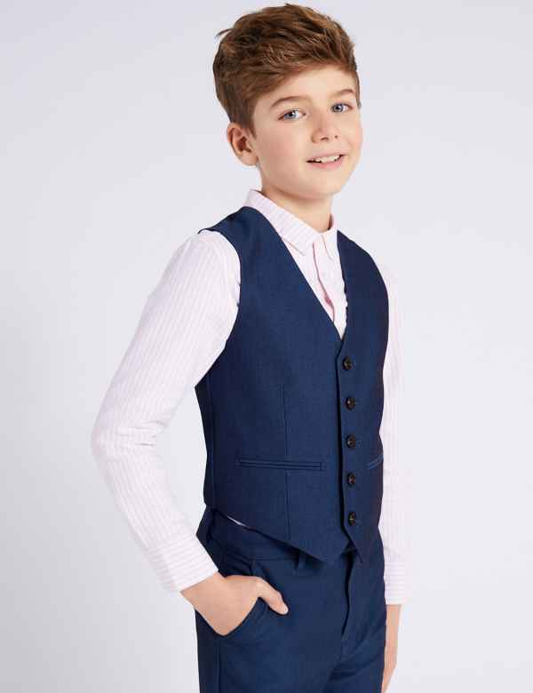 4db50717e37c Waistcoat with Stretch (3-16 Years)