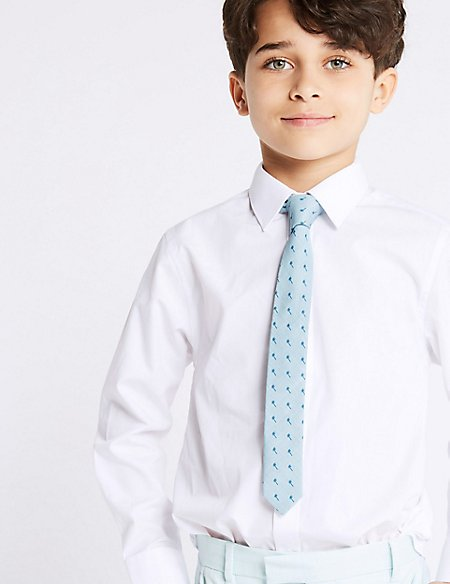 Cotton Rich Palm Leaf Tie (5-14 Years)